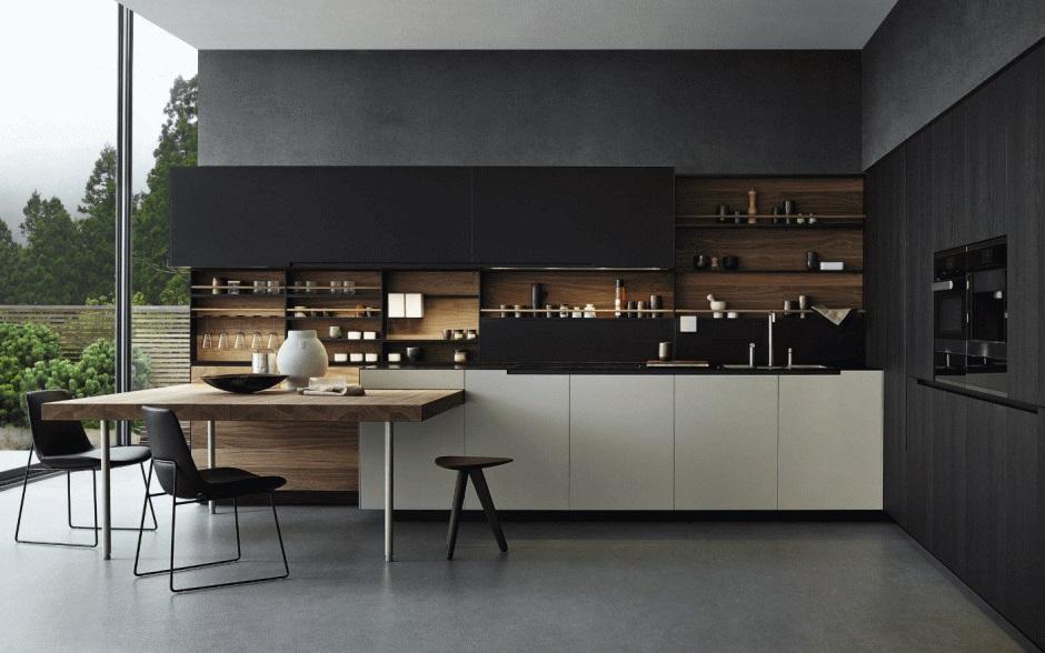 Aranżacje Kuchni Zdjęcie Czarna Kuchnia Z Elementami