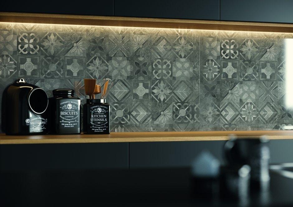 Softcement graphite dekor