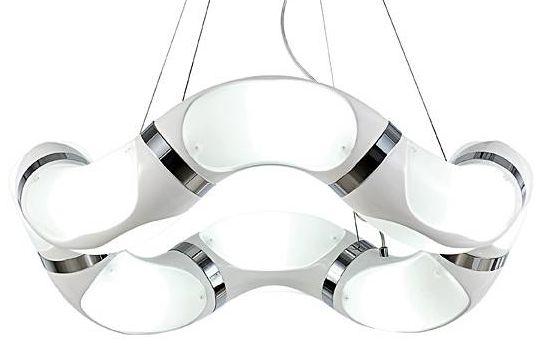 Nowoczesna Lampa Wisząca Ozcan 5397 Biała Fashion Lightpl