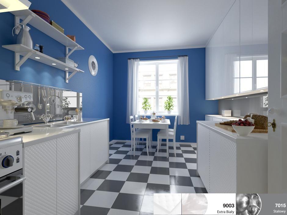 szkło Colorimo w małej kuchni
