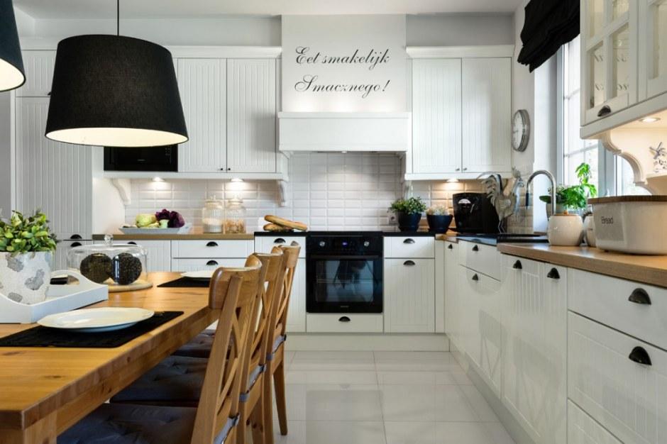 Biala cegla w kuchni