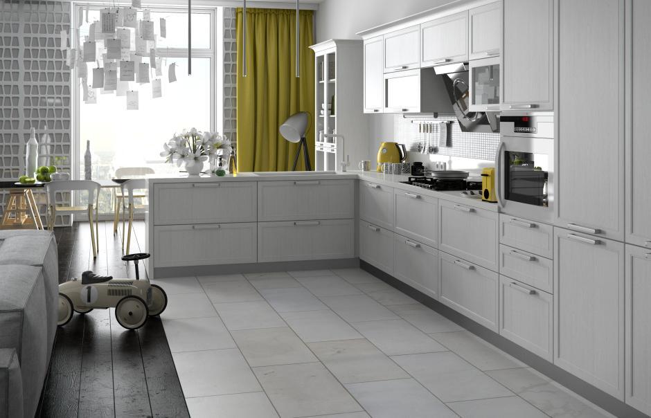 kuchnia w kształcie litery L - Wiech