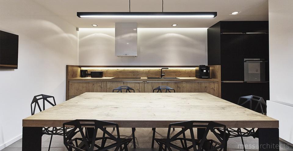Otwarta kuchnia z czarnym zlewem dwukomorowym  kuchnia otwarta na salon  in