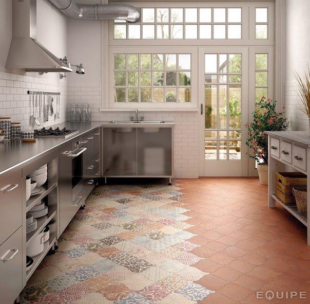Płytki Patchwork W Kuchni ściany I Podłogi Kuchennycompl
