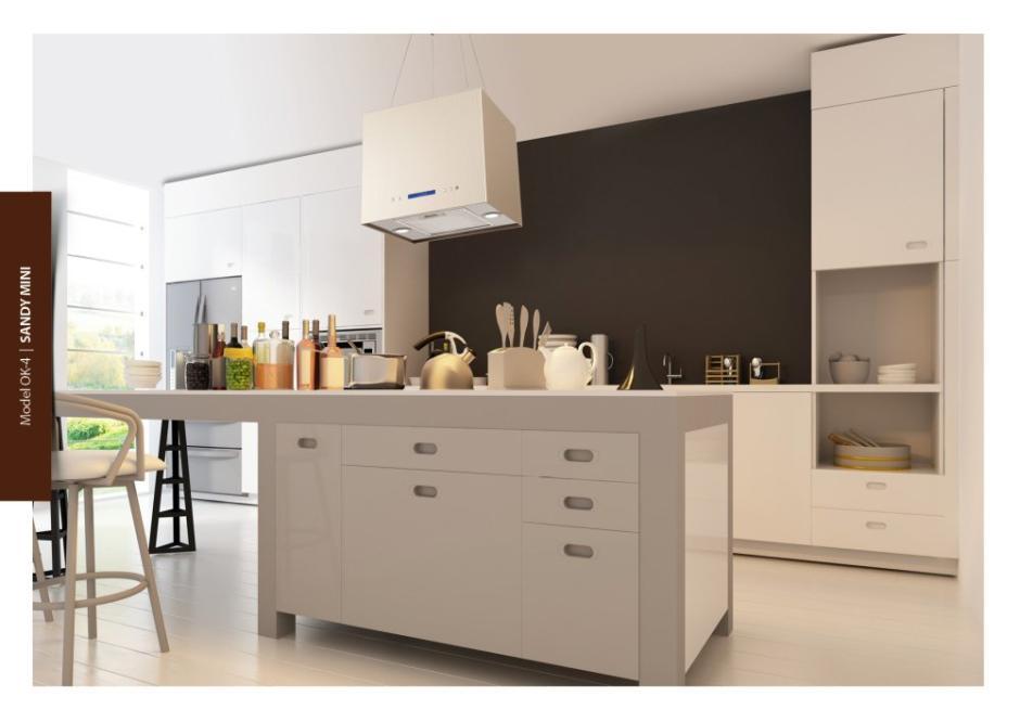 Okap wyspowy Toflesz w kuchni otwartej  kuchnia otwarta   # Kuchnia Sandy Style
