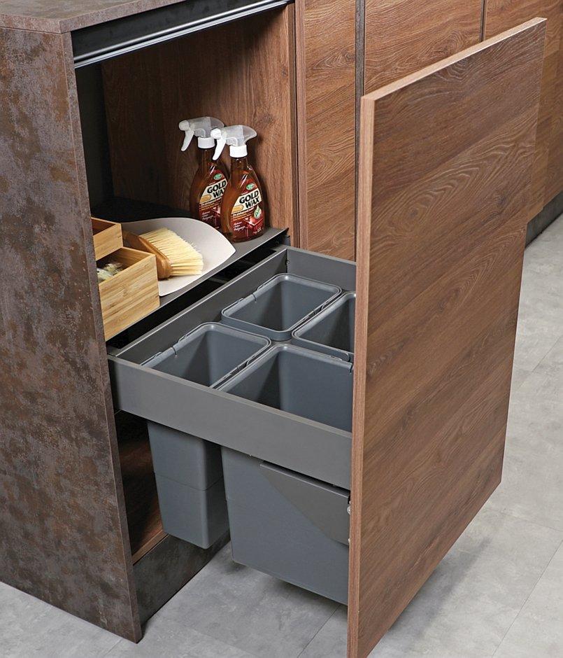 Slim Box szuflada z pojemnikami na odpady REJS