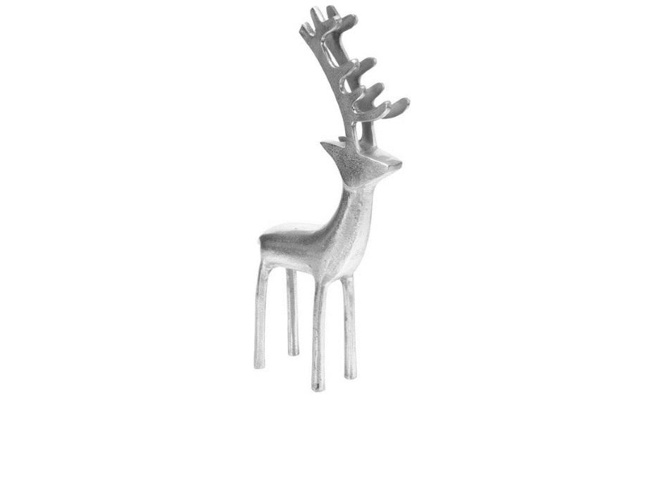 Srebrny renifer z aluminium
