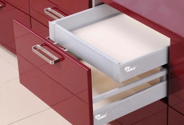 TB20 do niskiej szuflady z relingiem wewnętrznym
