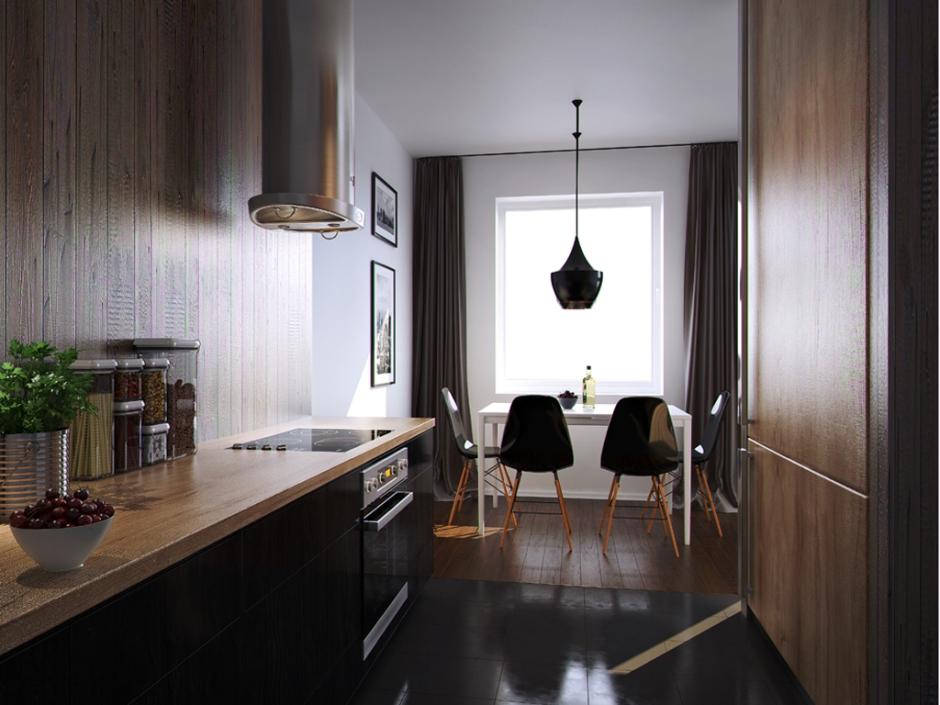 Kuchnia w bloku w kolorze brązu  Galerie Venis  kuchnia w bloku  inspiracj