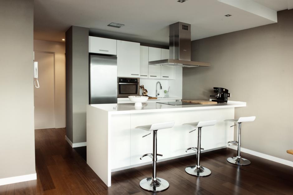 Okap toflesz aran acja kuchni otwartej na salon for Modelos de cocinas modernas americanas