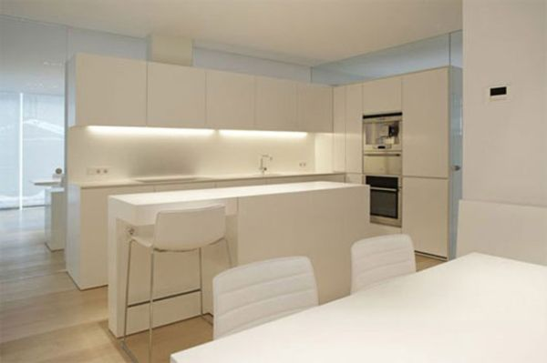 Blat w kuchni  pomysły na praktyczne rozwiązania  projekty kuchni  Kuchenn   -> Biala Kuchnia Bialy Okap