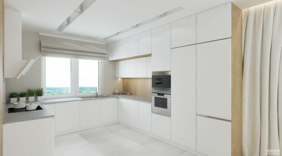 Otwarta biała kuchnia w bloku  kuchnia w bloku   -> Kuchnia Biala W Bloku