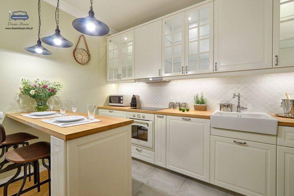 Biały Piekarnik W Stylu Vintage W Kuchni Apartament New