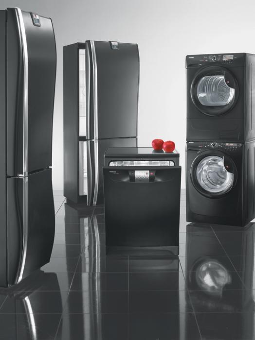 Kolekcja czarnych sprzętów AGD Candy
