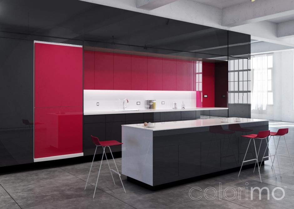 Szkło w kuchni - Colorimo Węglowe, Colorimo Malinowy i Colorimo Extra Białe