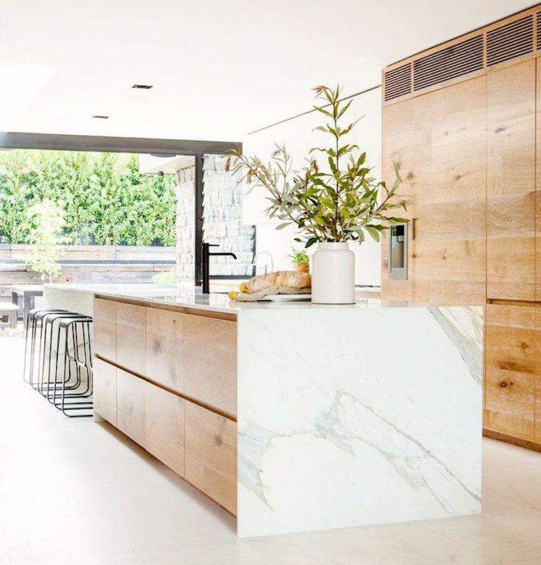 Drewno I Marmur W Kuchni Marmur W Kuchni Inspiracje