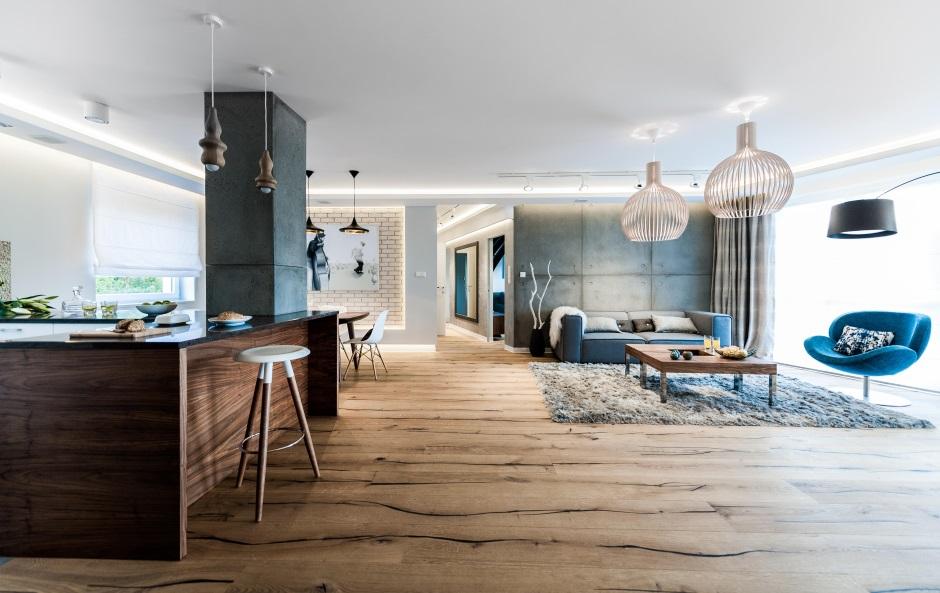 Duża Otwarta Kuchnia Połączona Z Jadalnią I Salonem Apartament W