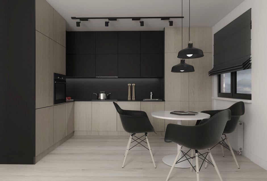 Dwukolorowa otwarta kuchnia  kuchnia otwarta na salon  inspiracje  aranżac