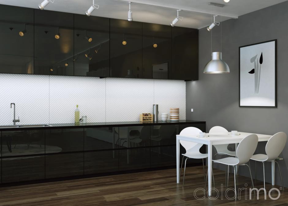 Szkło w kuchni - Colorimo Czarny i Colorimo Soft Białe