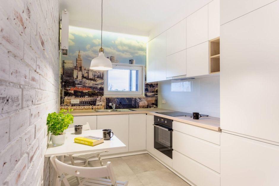Fototapeta Na ścianie W Kuchni Kuchnia Z Fototapetą