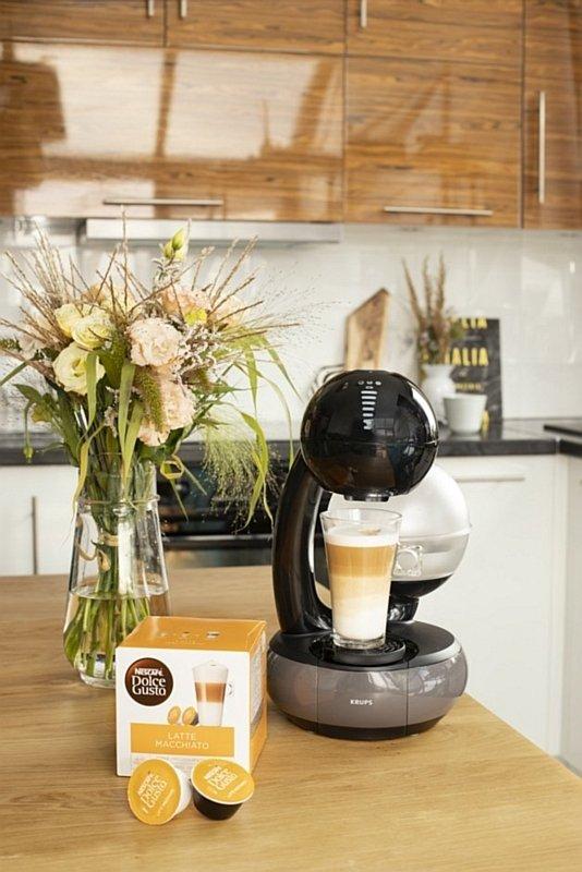 Kawa Latte Macchiato oraz ekspres kapsułkowy Esperta Dolce Gusto