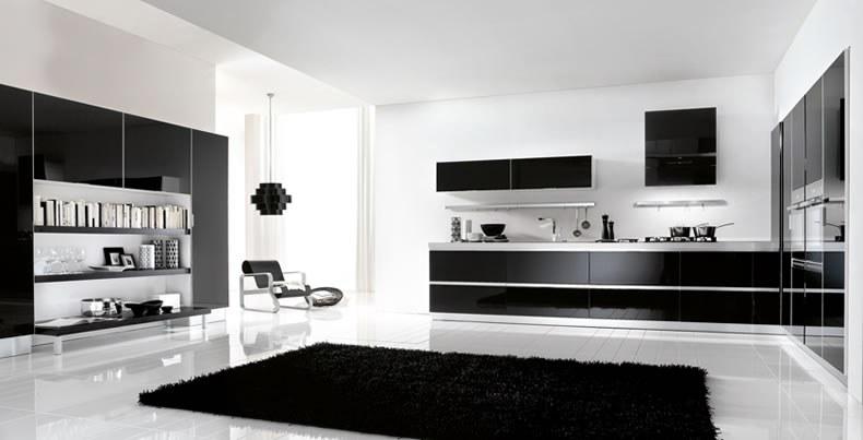 Kuchnia Lux Nero na wysoki połysk  Rad Pol  meble   -> Kuchnia Lux Forte