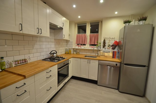 Płytki cegiełki w kuchni  ściany i podłogi  Kuchenny com pl -> Kuchnia I Kafelki