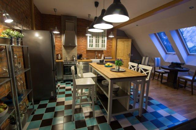 Kuchnia na poddaszu  projekty kuchni  Kuchenny com pl -> Kuchnie Na Poddaszu Ze Skosem