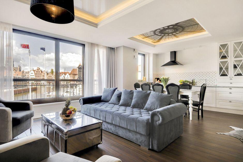 Kuchnia otwarta na salon połączona z jadalnią  Apartament   -> Otwarta Kuchnia Jadalnia Salon