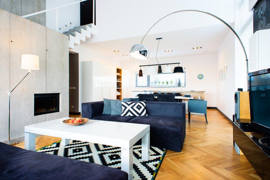 Kuchnia otwarta na salon w dwupoziomowym mieszkaniu  kuchnia otwarta na salo   -> Kuchnia Otwarta Na Salon W Mieszkaniu