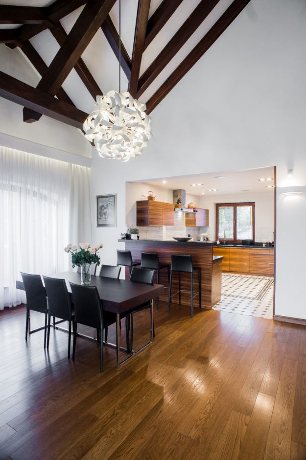 Kuchnia otwarta w domu jednorodzinnym  kuchnia otwarta na salon  inspiracje