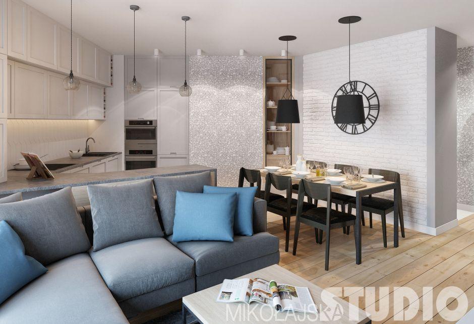 Kuchnia połączona z jadalnią i salonem  kuchnia otwarta   -> Inspiracje Kuchnia Z Salonem