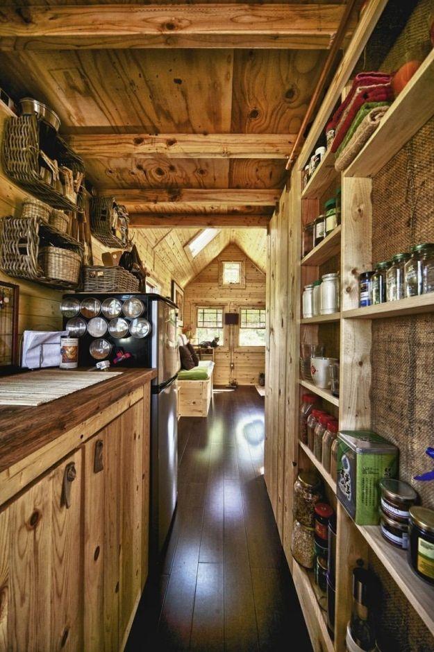 Kuchnia W Stylu Chalet W Drewnianym Domu Kuchnia W Stylu