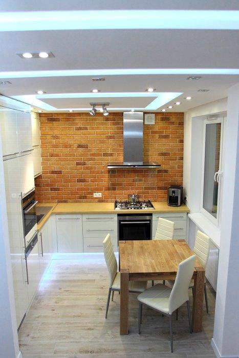 Sufit w kuchni  projekty kuchni  Kuchenny com pl -> Kuchnia Sufit Led