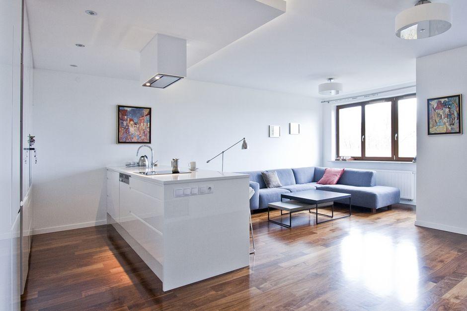 Lampy Sufitowe Plafony W Kuchni Otwartej Na Salon