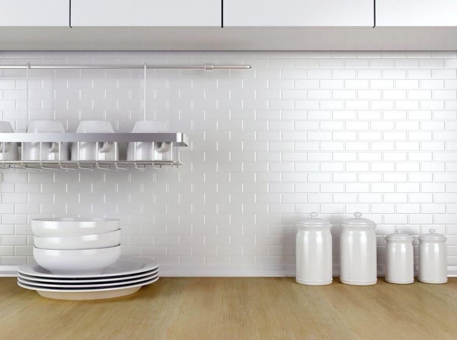 Mini cegiełka biała - mozaika ceramiczna