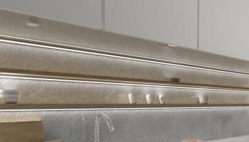OLI wyłącznik RF do mebli z funkcją ściemniania zamontowany pod szafkami kuchennymi dwa kolory biały i czarny