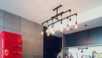 Aranżacje Kuchni Zdjęcie Kuchnia W Stylu Loft Z Czerwoną