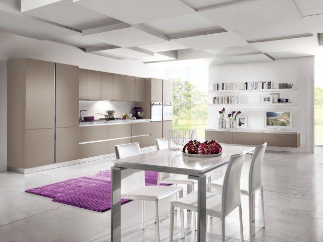 Sufit w kuchni  projekty kuchni  Kuchenny com pl -> Kuchnia Oświetlenie Sufit