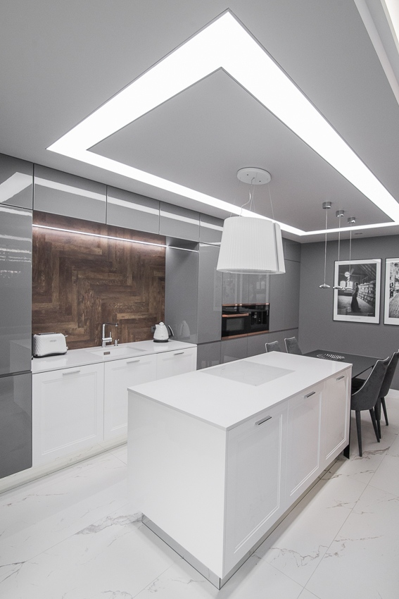 Aranżacje Kuchni Zdjęcie Oświetlenie Sufitowe Kuchni