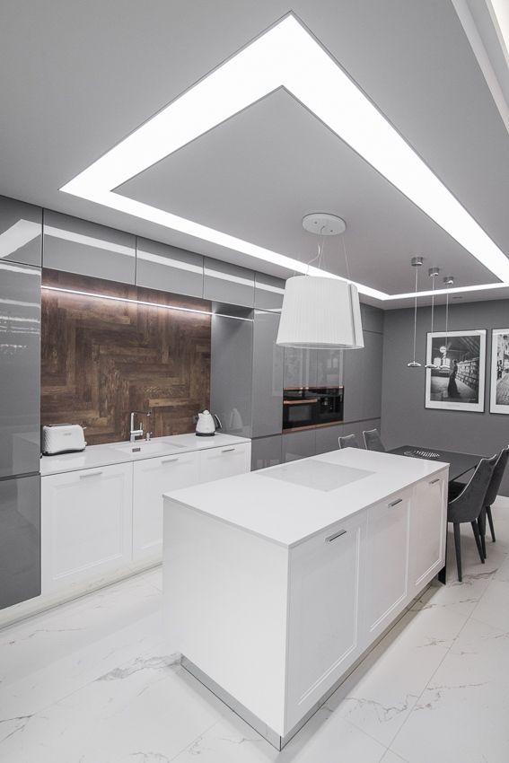 Aranżacje Kuchni Zdjęcie Oświetlenie Sufitowe Kuchni Z