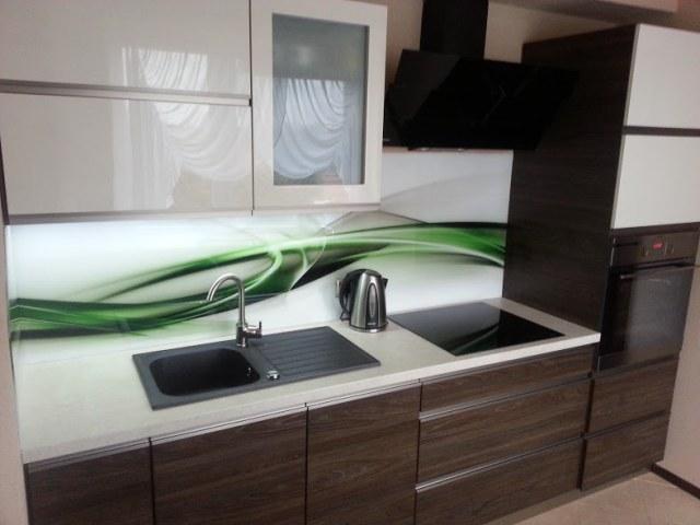 Panel Szklany W Kuchni Wzór Abstrakcja Glassing ściany
