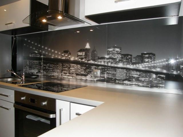 Panel Szklany Z Nadrukiem Wzór Most Glassing ściany I Podłogi