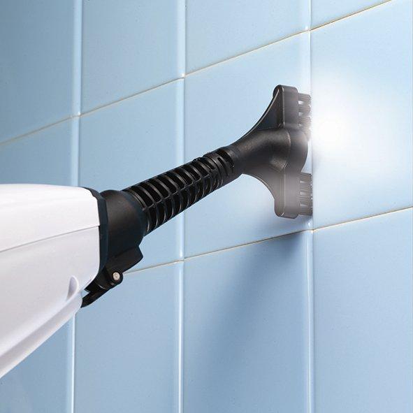 Parowy mop ręczny - czyszczenie płytek