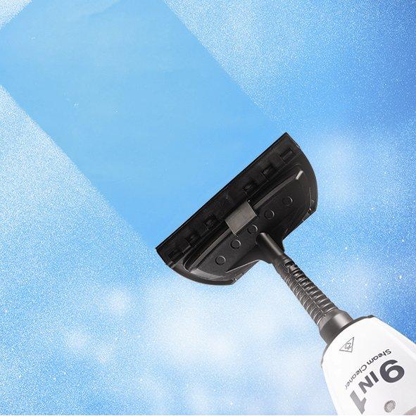 Parowy mop ręczny - mycie okien