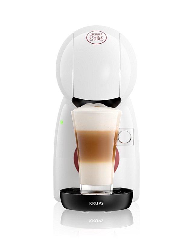 Piccolo XS - ekspres do kawy Dolce Gusto kolor biały oraz kawa Latte Macchiato