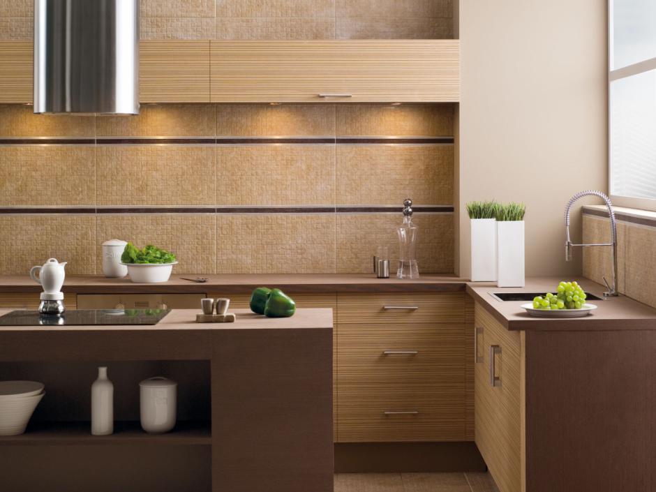 Aranżacja kuchni otwartej  mozaika firmy Opoczno   -> Kuchnia Plytki Mozaika