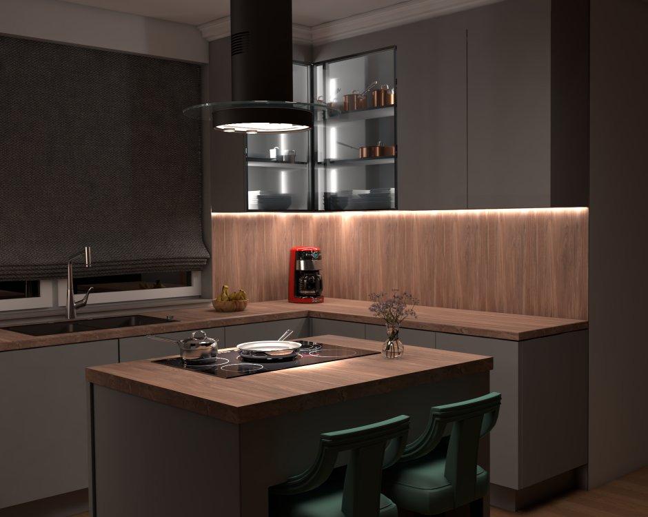 Podświetlenie w kuchennych meblach