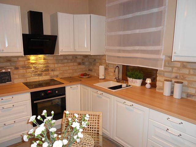 Ceglana ściana w kuchni  trendy kuchenne  Kuchenny com pl -> Kuchnia I Cegla