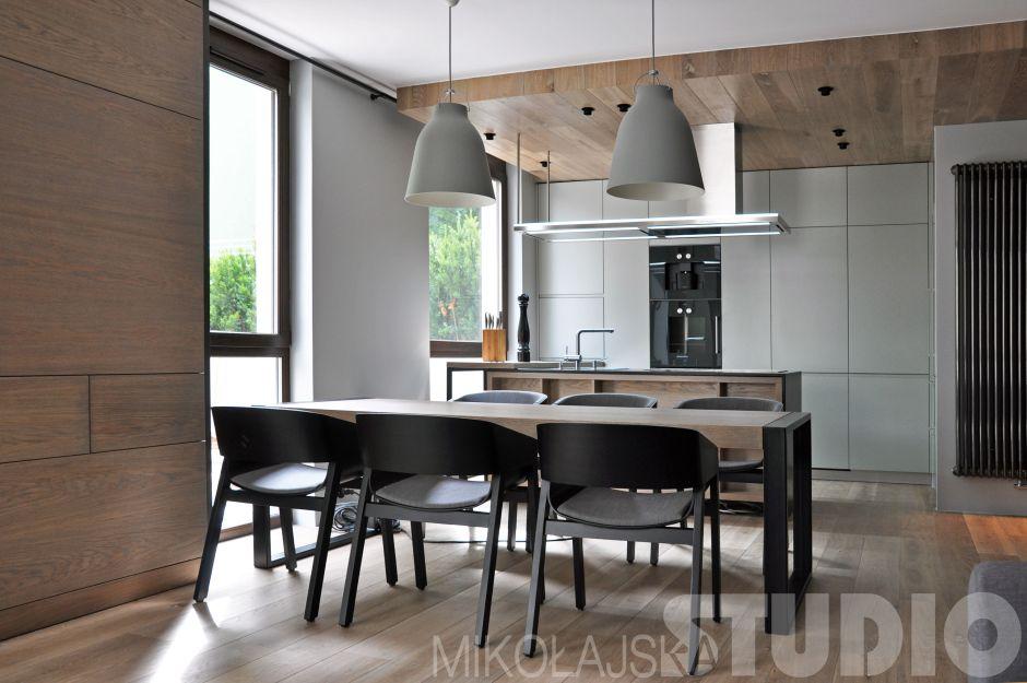 Szare meble w kuchni otwartej  kuchnia otwarta na salon   -> Kuchnia Meble Szare